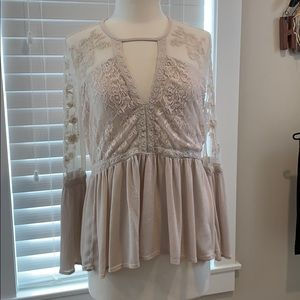 American Eagle sz large pullover swing blouse